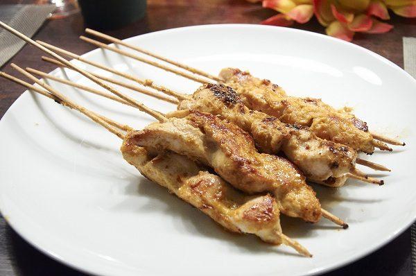 Satay Spiesschen mit Sauce