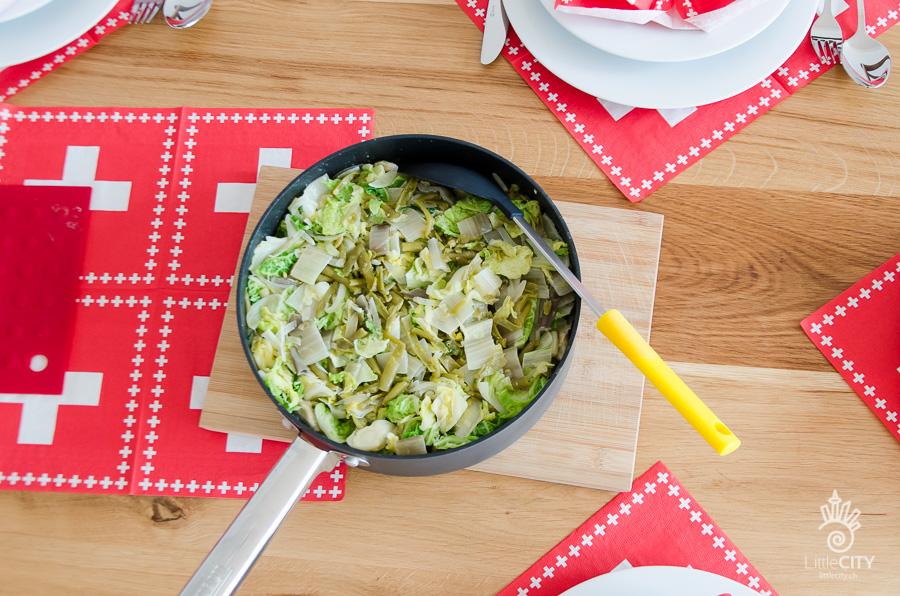 Pizokel mit Gemüse Schweizer Rezept