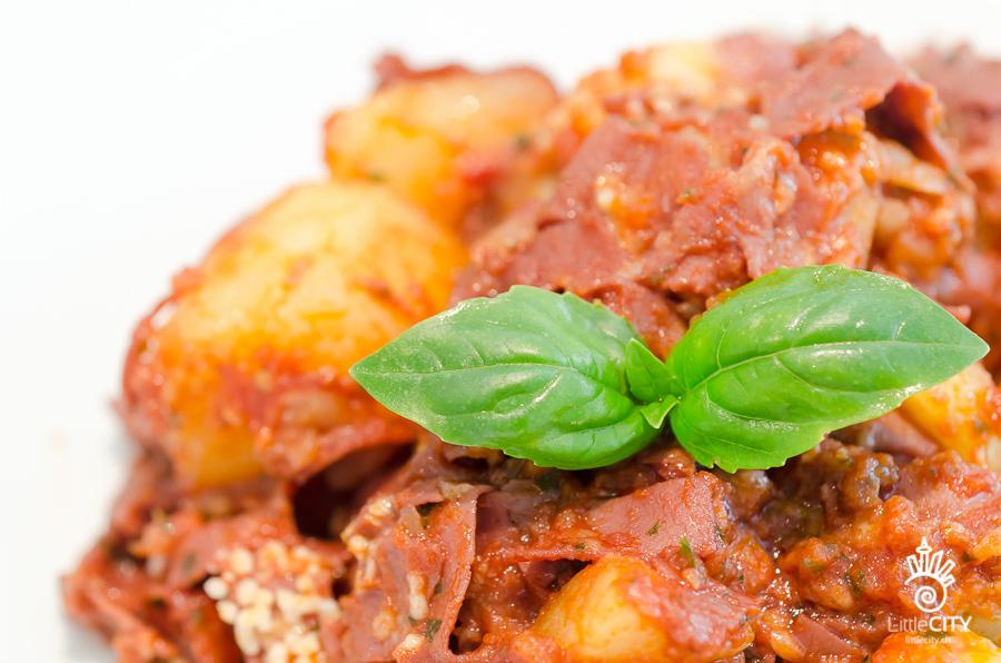 Mortadella Kartoffeln Basilikum Rezept
