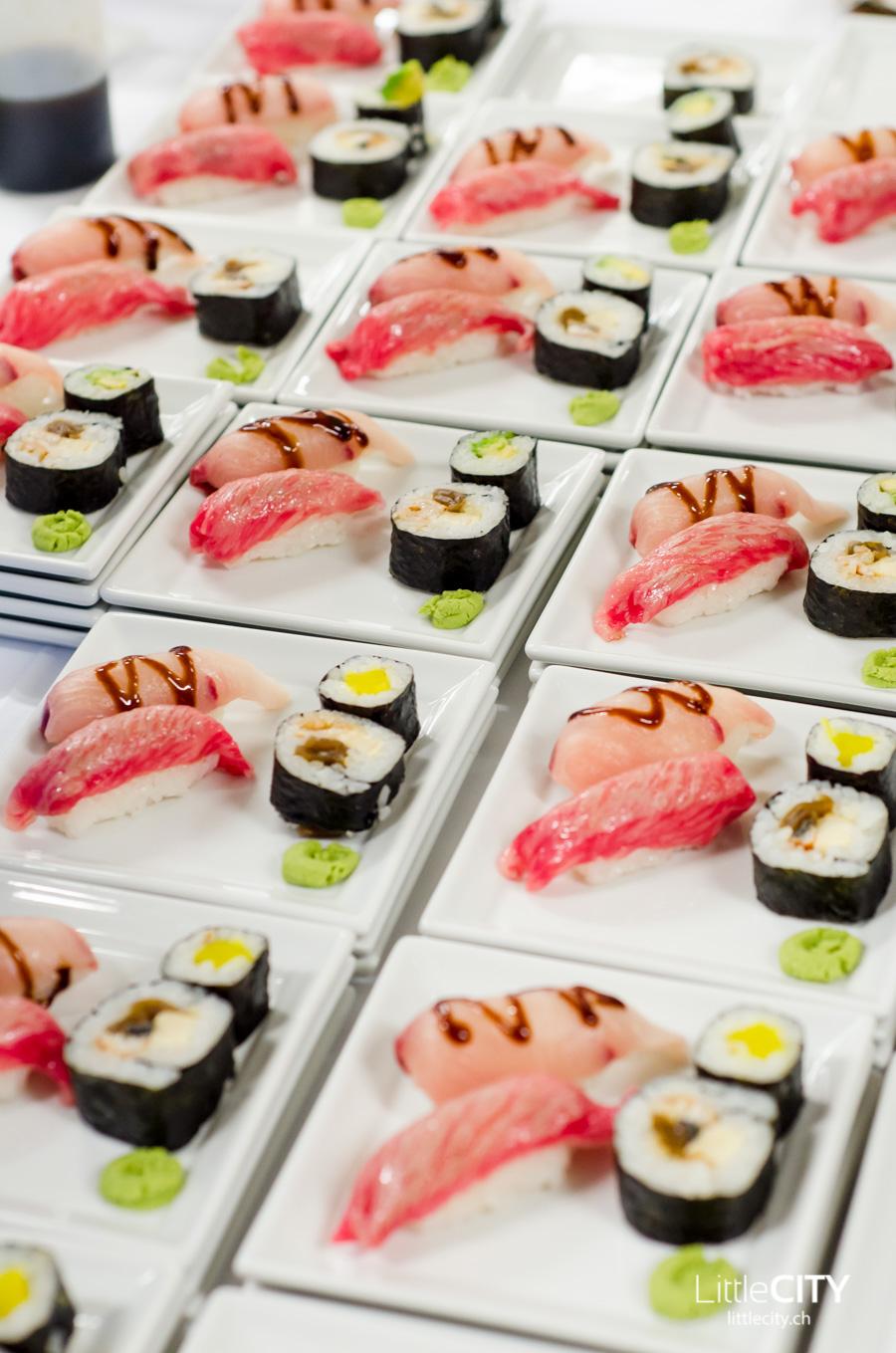 Sushi mit Kobe Beef Oishi Japan Event Bern
