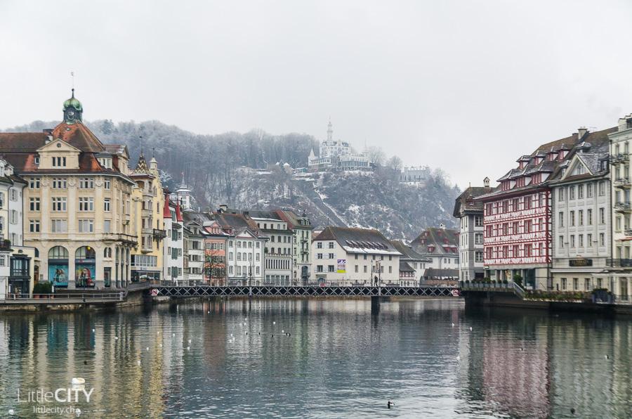 Luzern Altstadt im Winter Reiseblogger Event