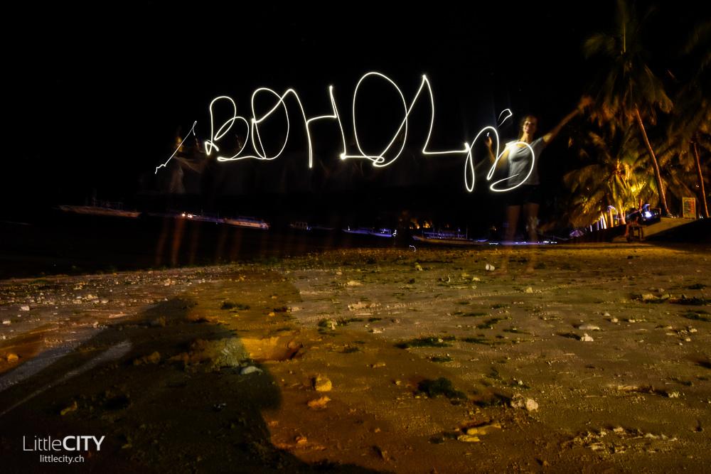Bohol Sehenswürdigkeiten Panglao Alona Beach Nacht