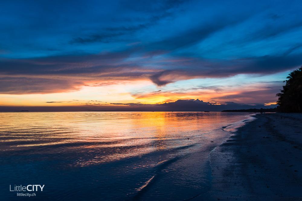 Siquijor San Juan Beach Sonnenuntergang