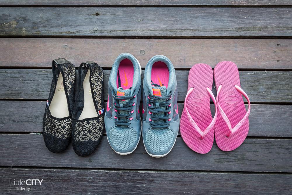 Packliste Weltreise Schuhe