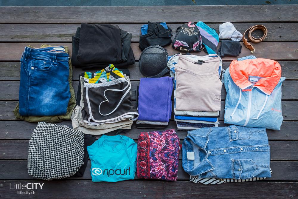 Packliste Weltreise Kleider