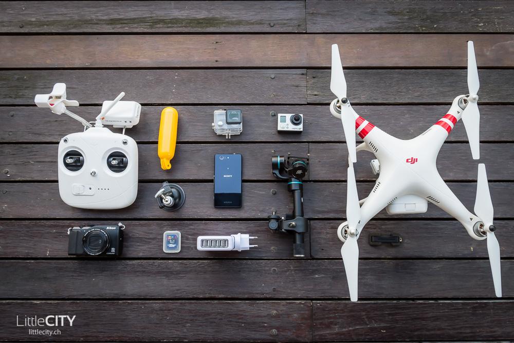 Reisepackliste Technik GoPro DJI-1