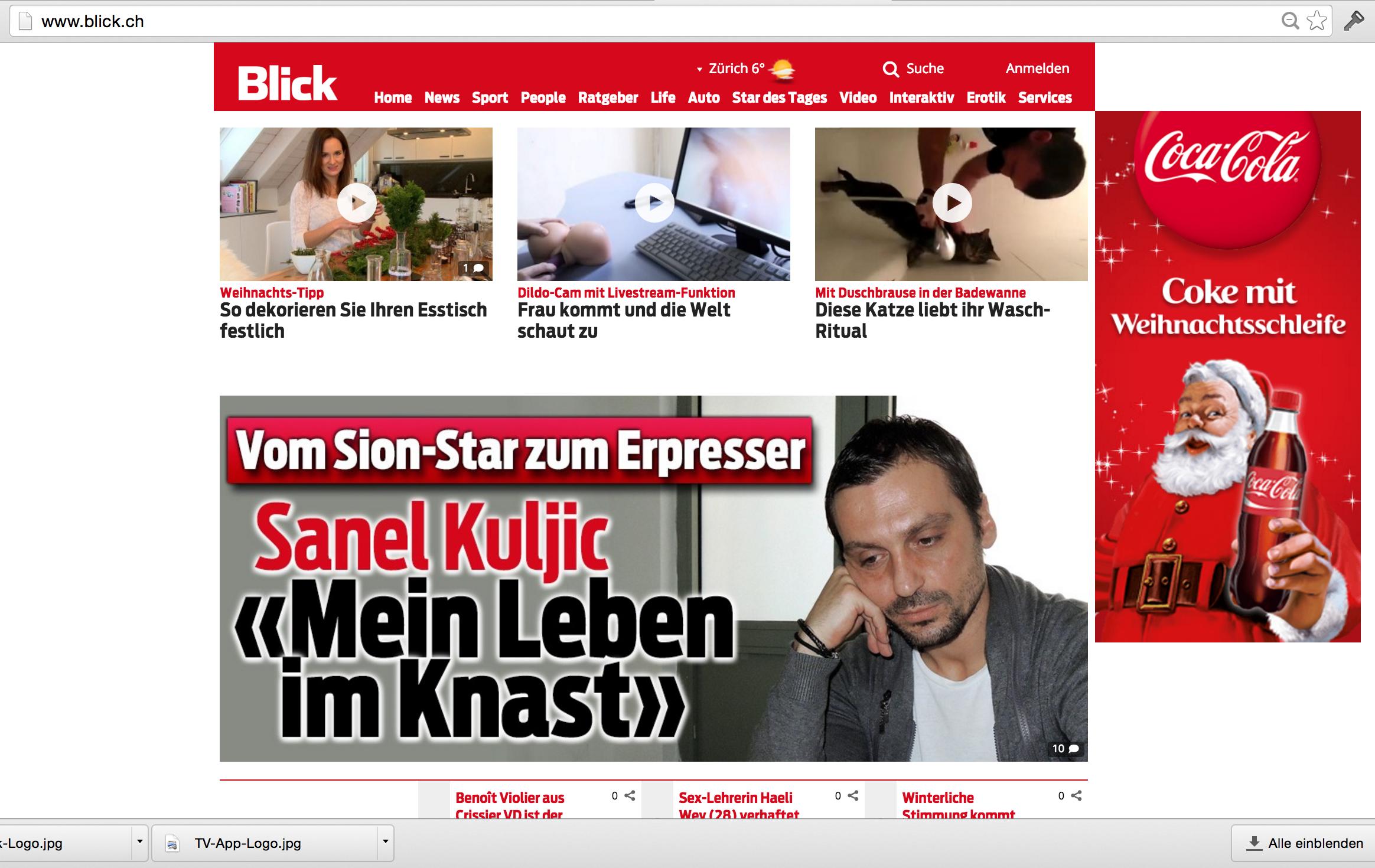 Blick.ch Startseite