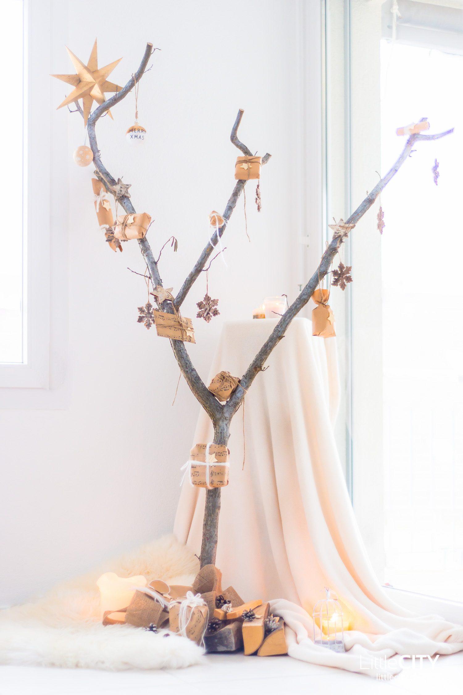 DIY Advenzkalender Baum Holz