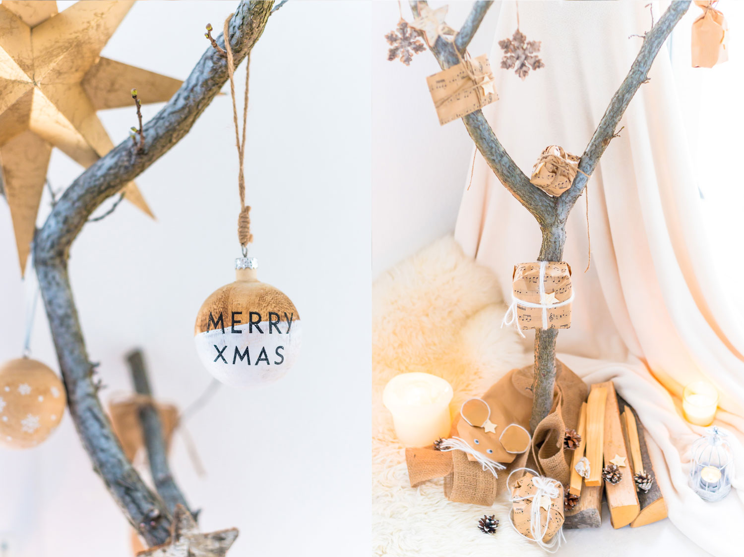 DIY Advenzkalender Baum Holz