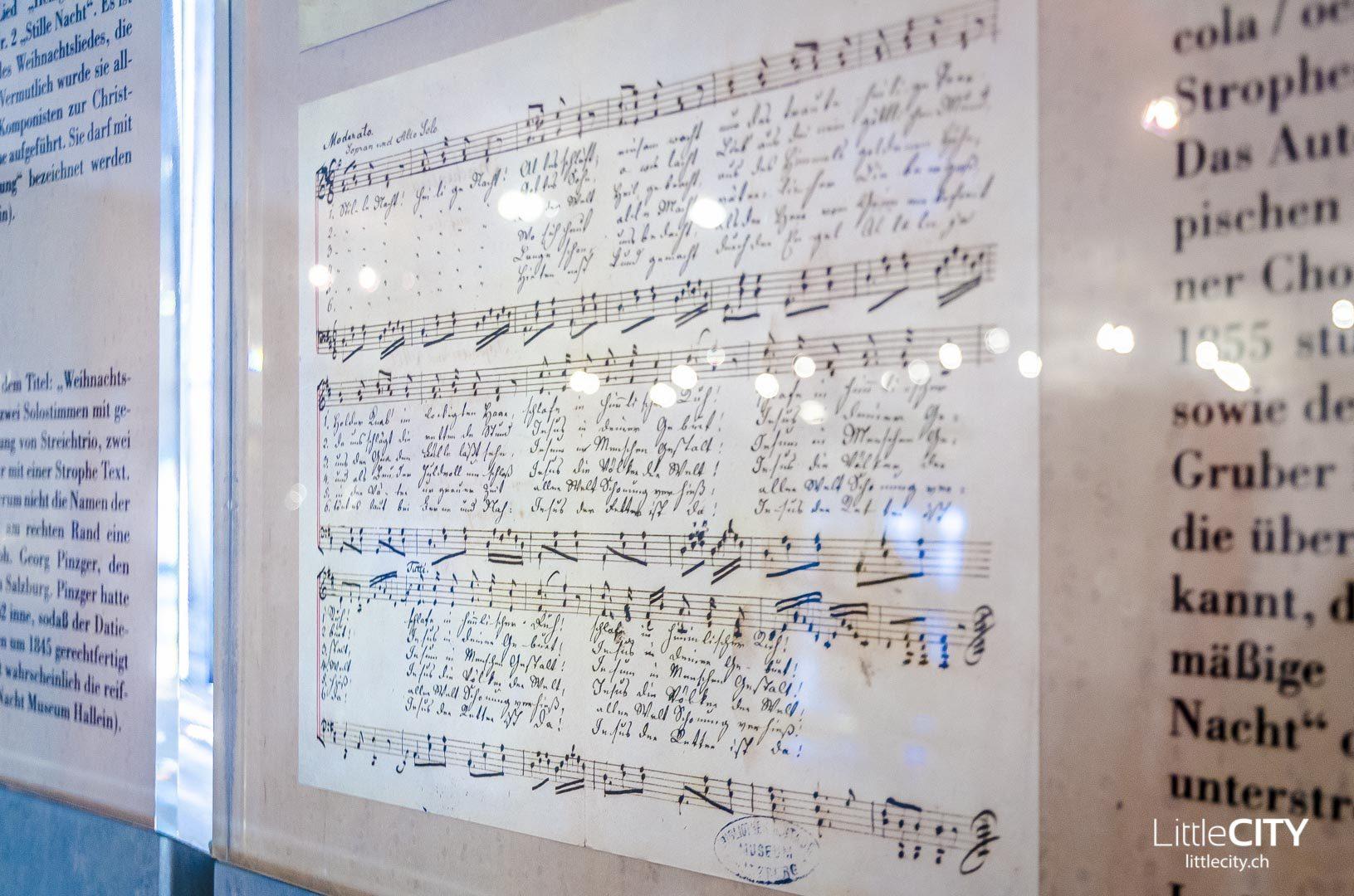 Hallein Stille Nacht Museum Noten