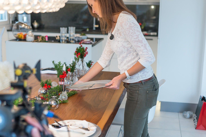 Tisch weihnachtlich dekorieren LittleCITY & BlickTV BlickTV