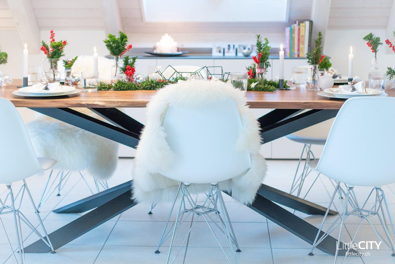 Weihnachts Tisch Deko Ideen Pfister Holztisch