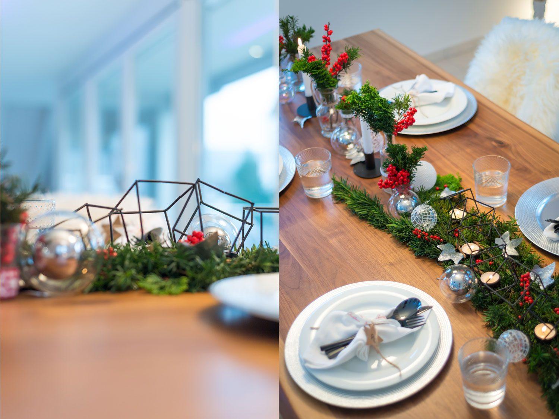 Weihnachts Tisch Dekoration DIY