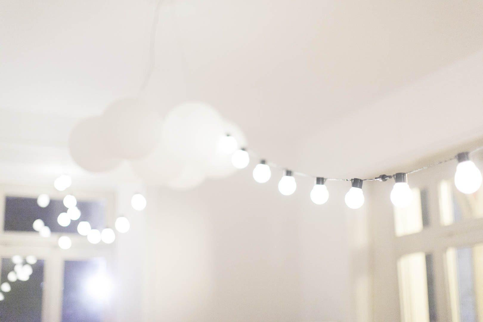 Hochzeitsfeier Abend Lichterketten