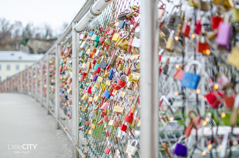 Salzburg Makartsteg Liebesschlösser Schlösschen Brücke