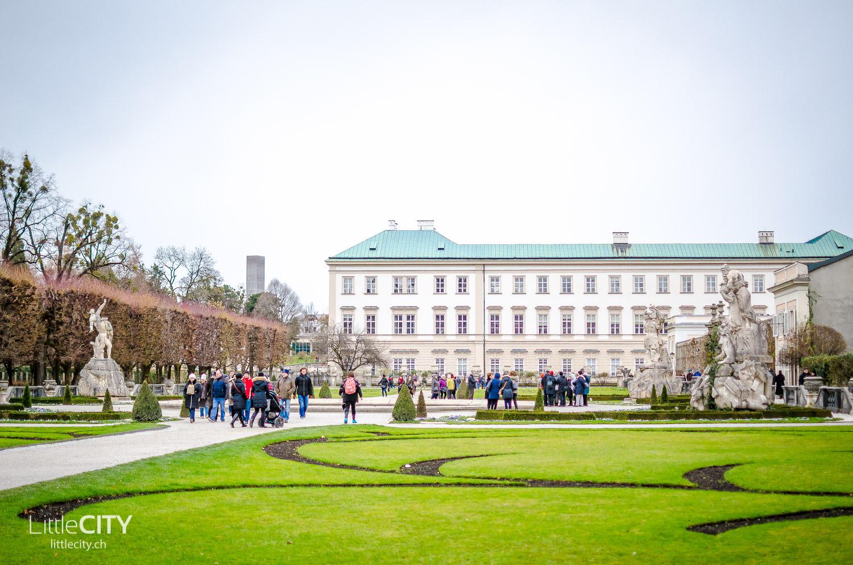 Salzburg Mirabellgarten Schloss Mirabell Winter