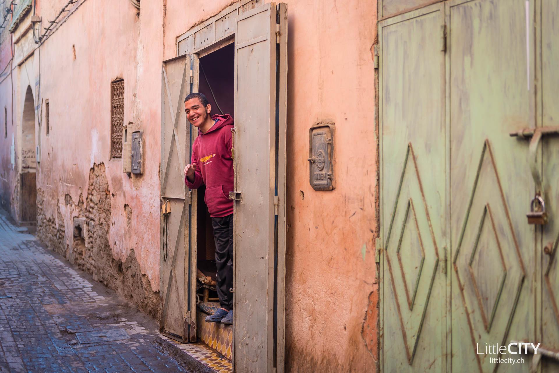 Marrakesch Medina Junger Mann