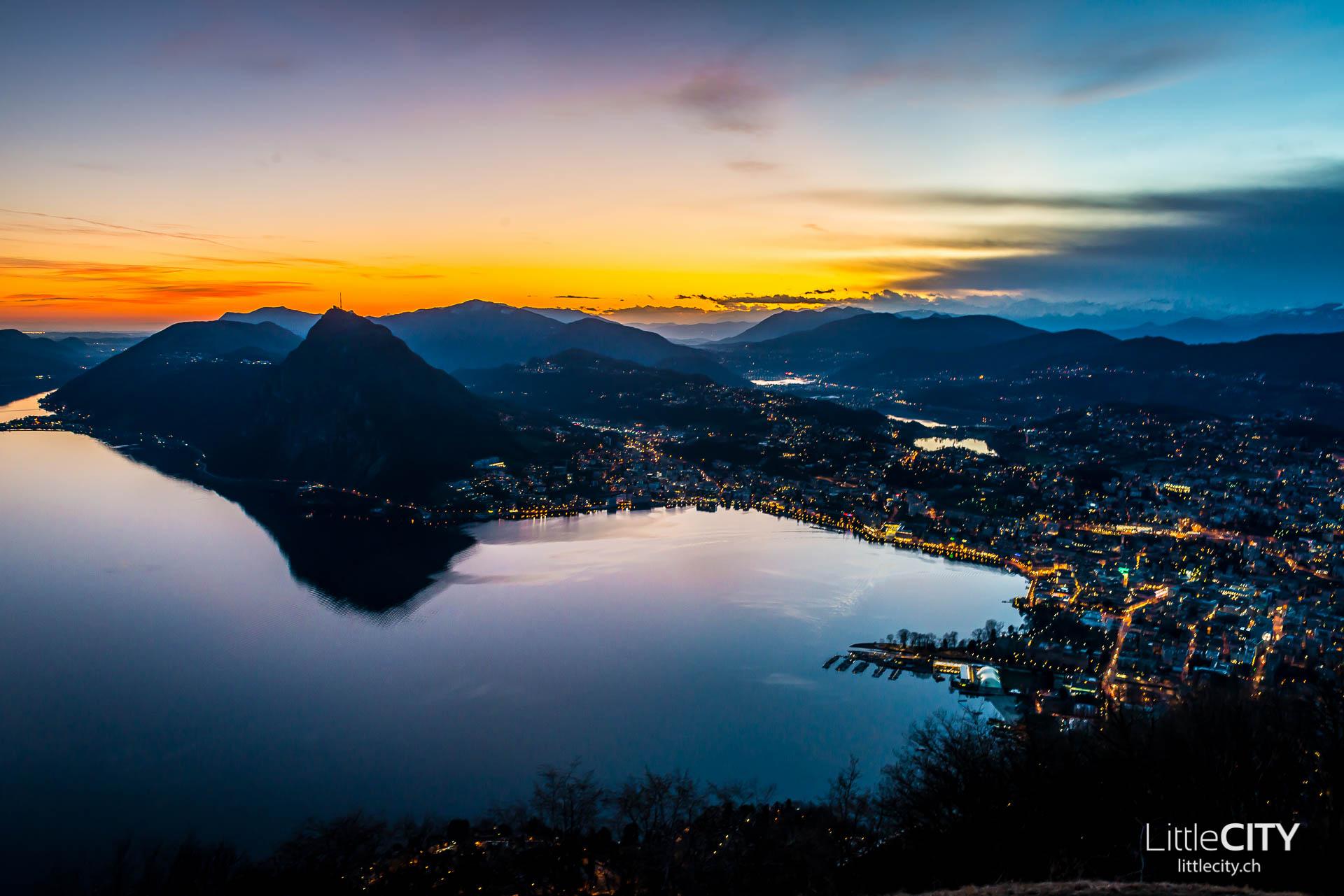 Monte Bré Lugano Sunset View