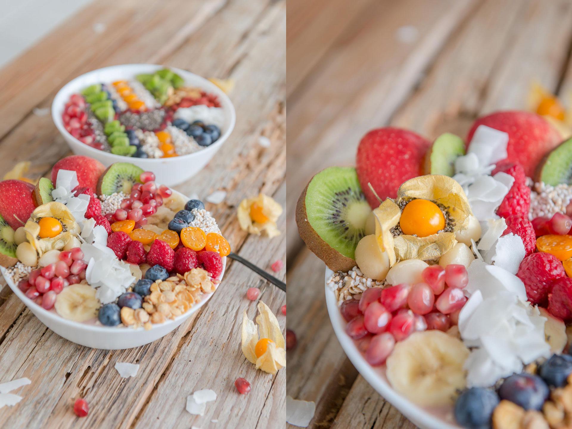 Früchte Bowl Frühstück