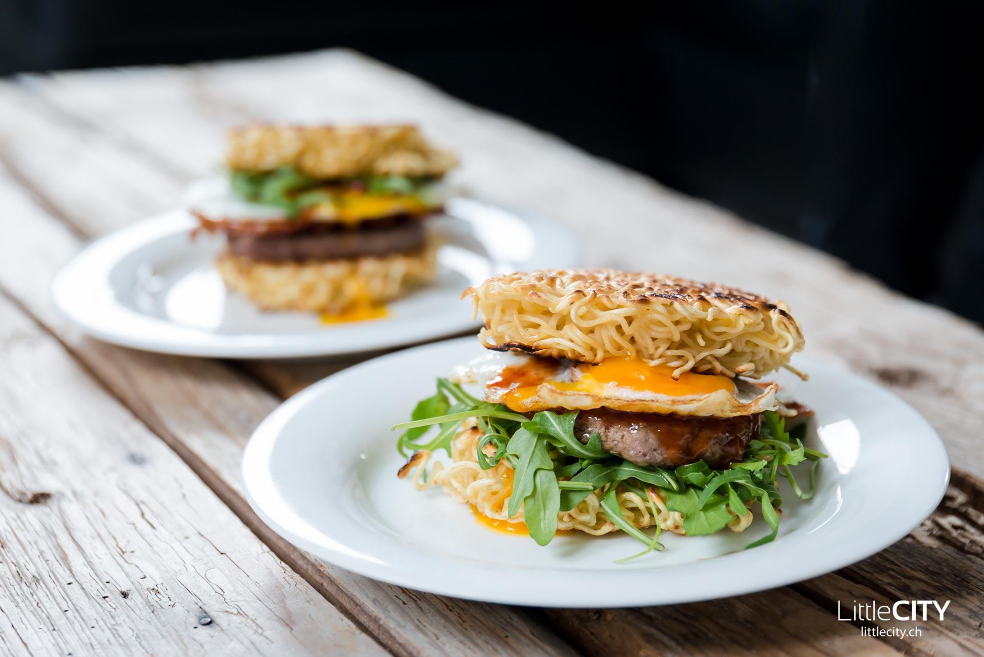 Ramen Burger Rezept-11