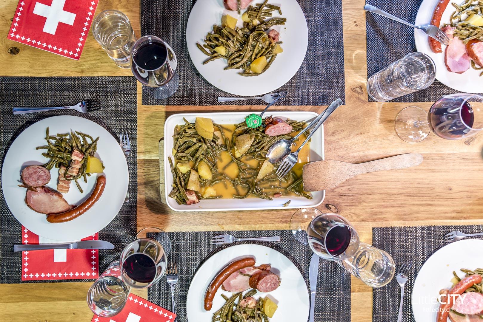 Saucisson typische Schweizer Gerichte
