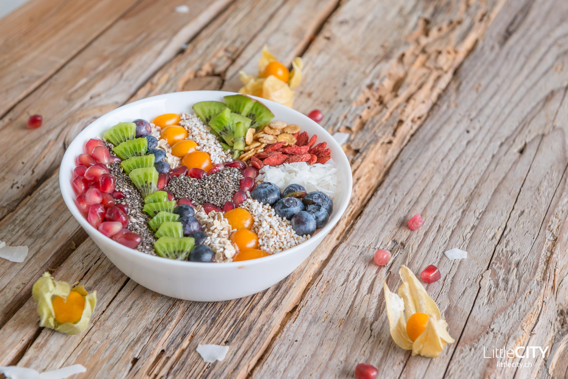Smoothie Früchte Bowl