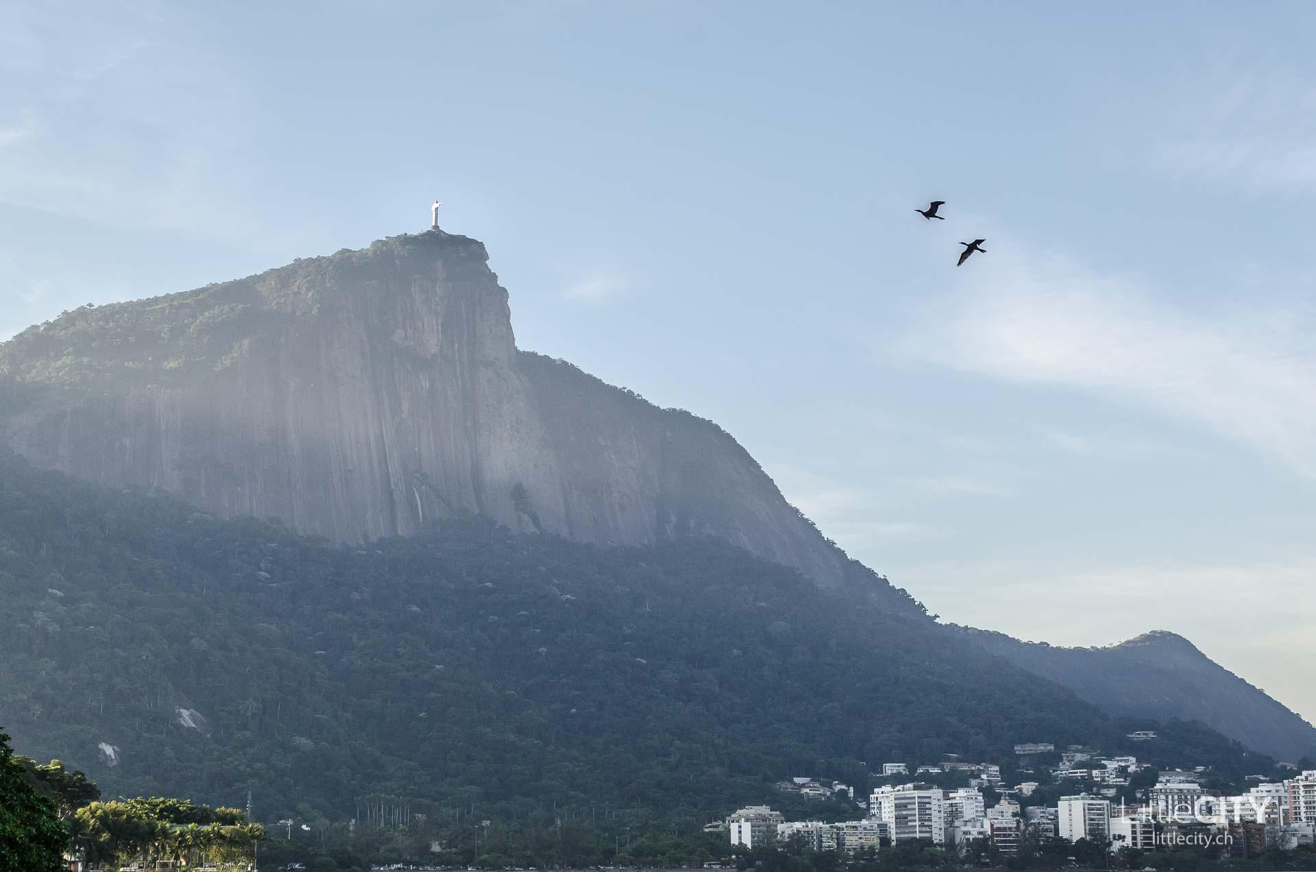 Cristo Rodrigo de Freitas Lagoon Rio de Janeiro