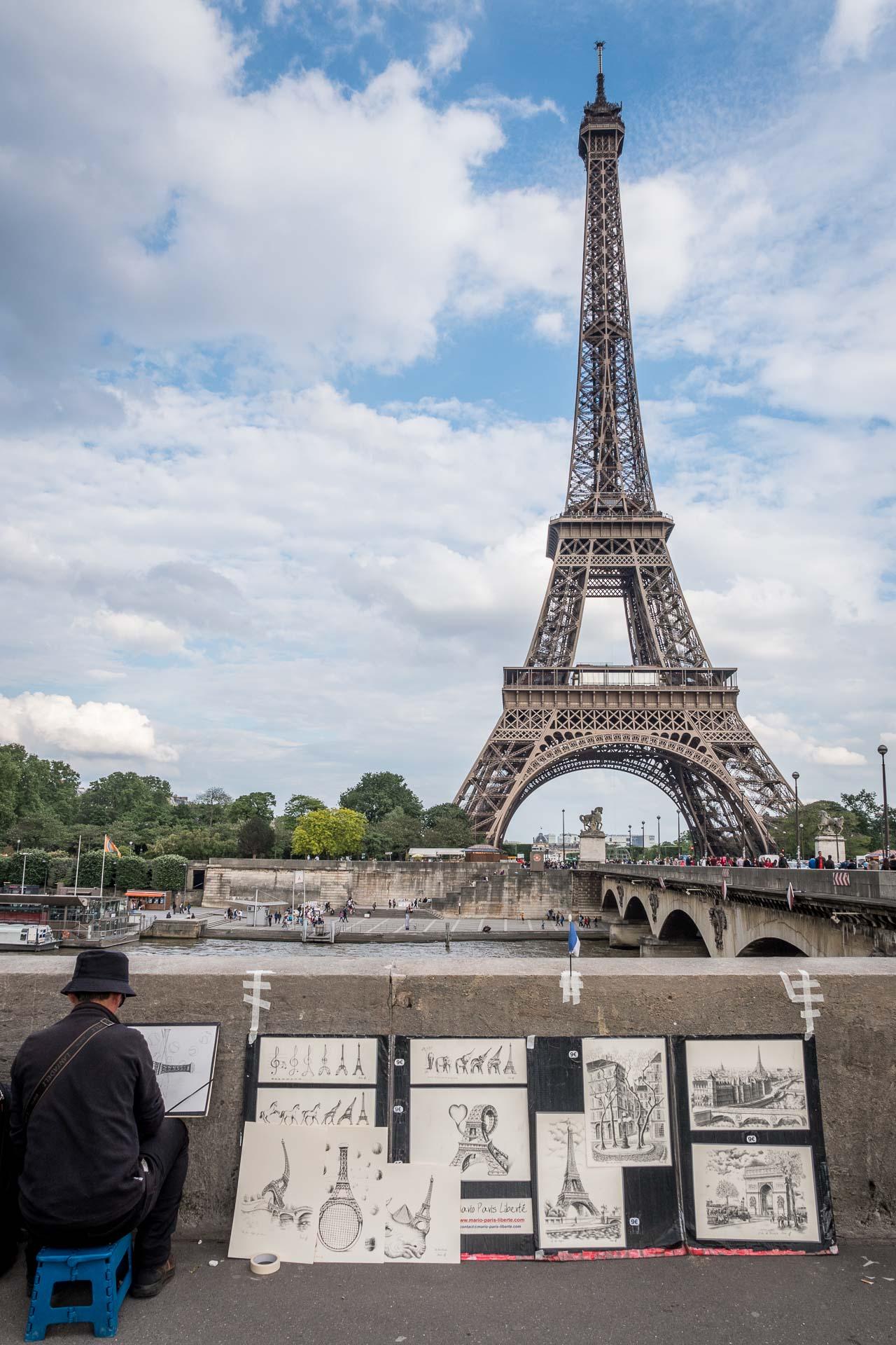 Paris Reisetipps: Eiffelturm Maler