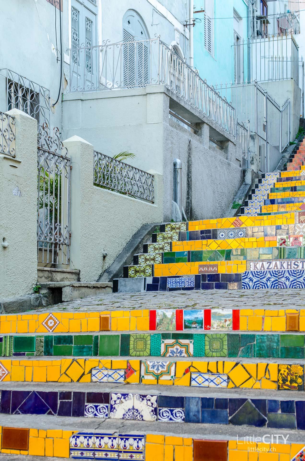 Selaron Fliesen Treppe Rio de Janeiro-1