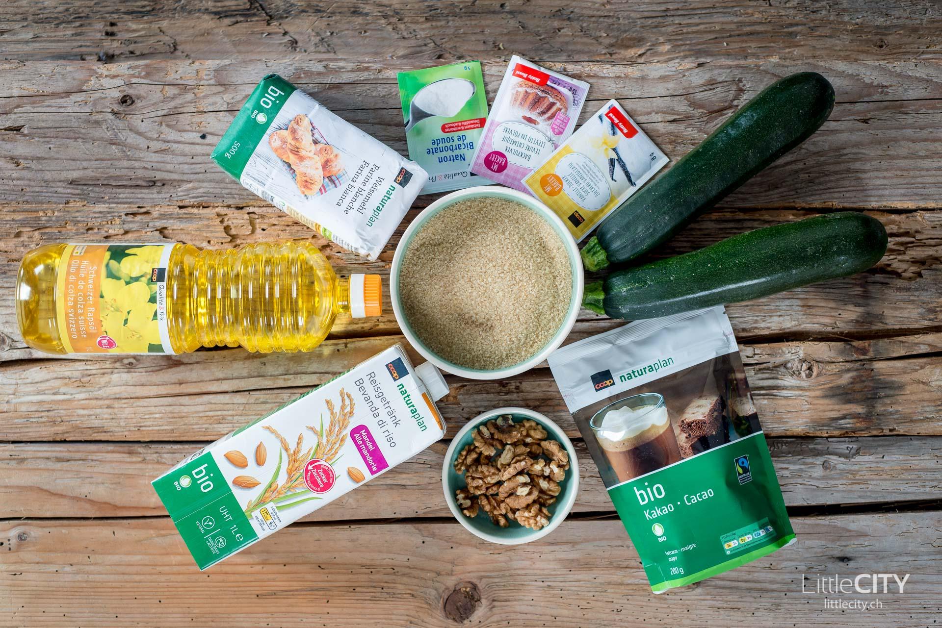 Vegane Zucchini Brownies Zutaten-1