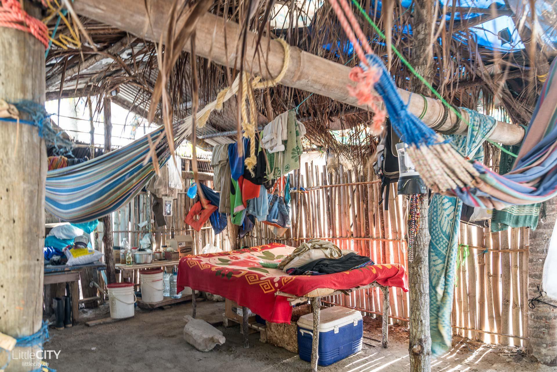 Kuna Indianer San Blas Haus