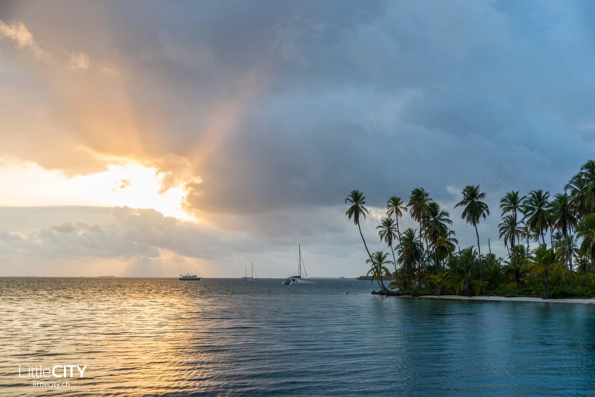 San Blas Inseln Sonnenuntergang