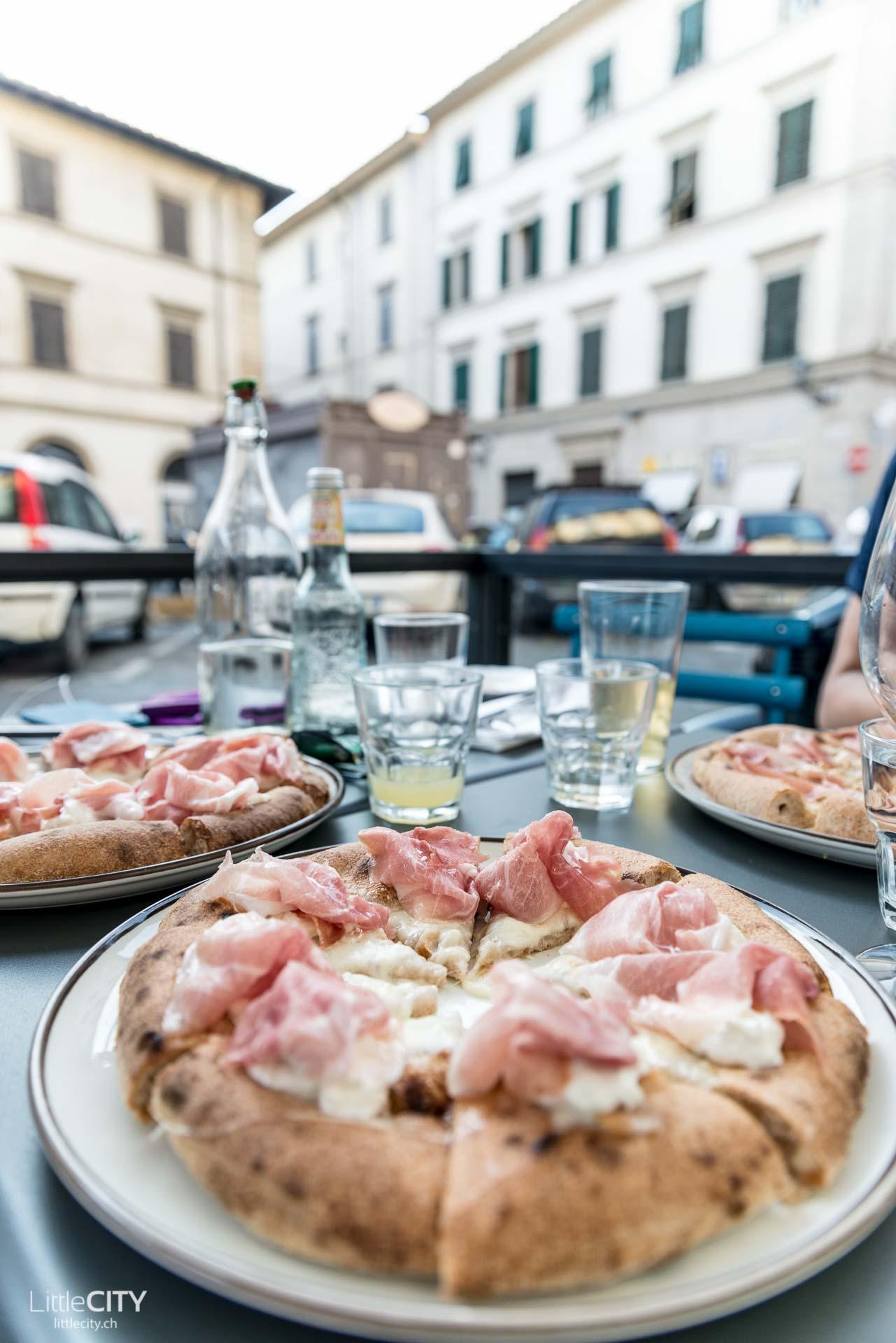 Florenz Berberé Restaurant Sauerteig Pizza