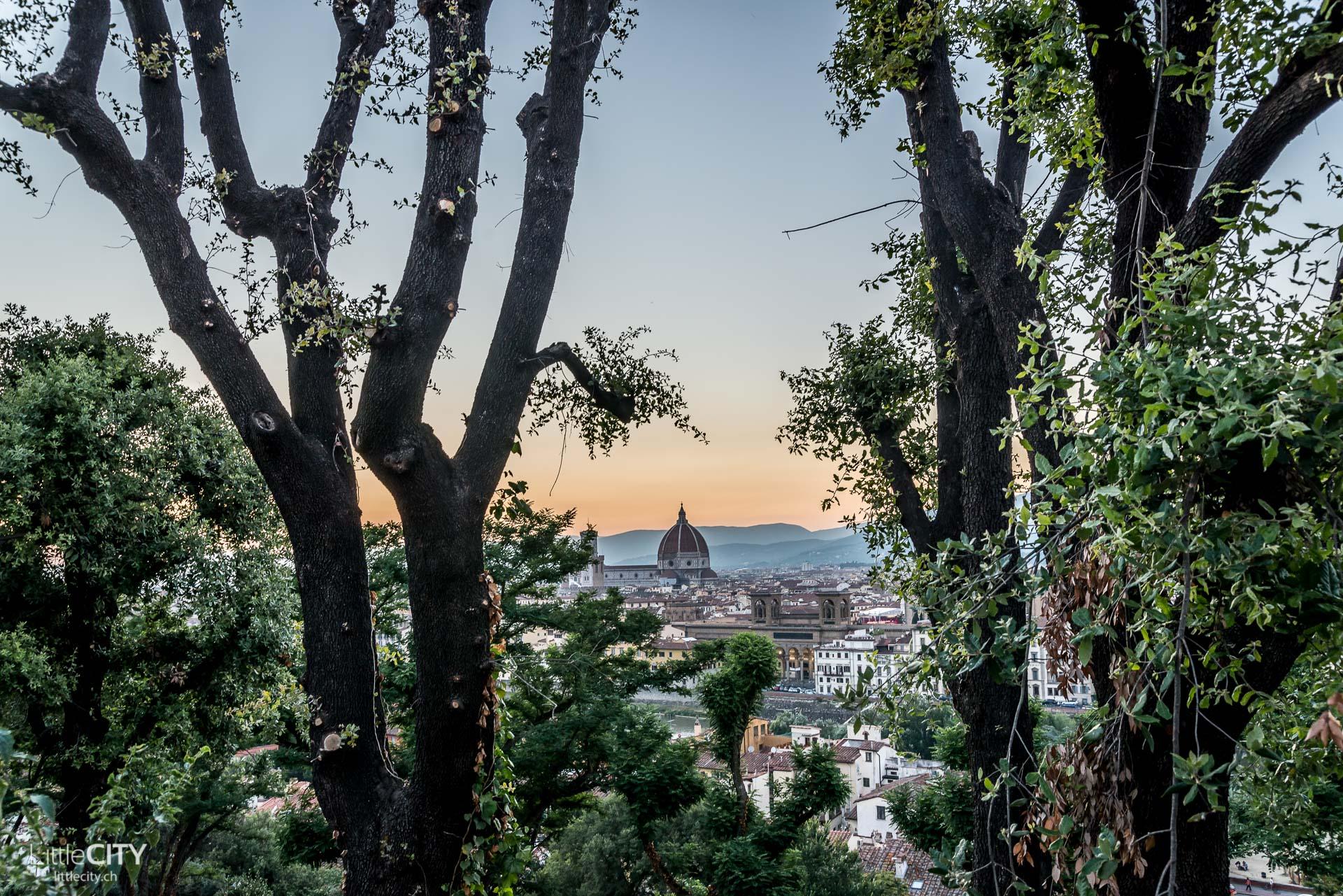 Florenz Piazzale Michelangelo Sonnenuntergang