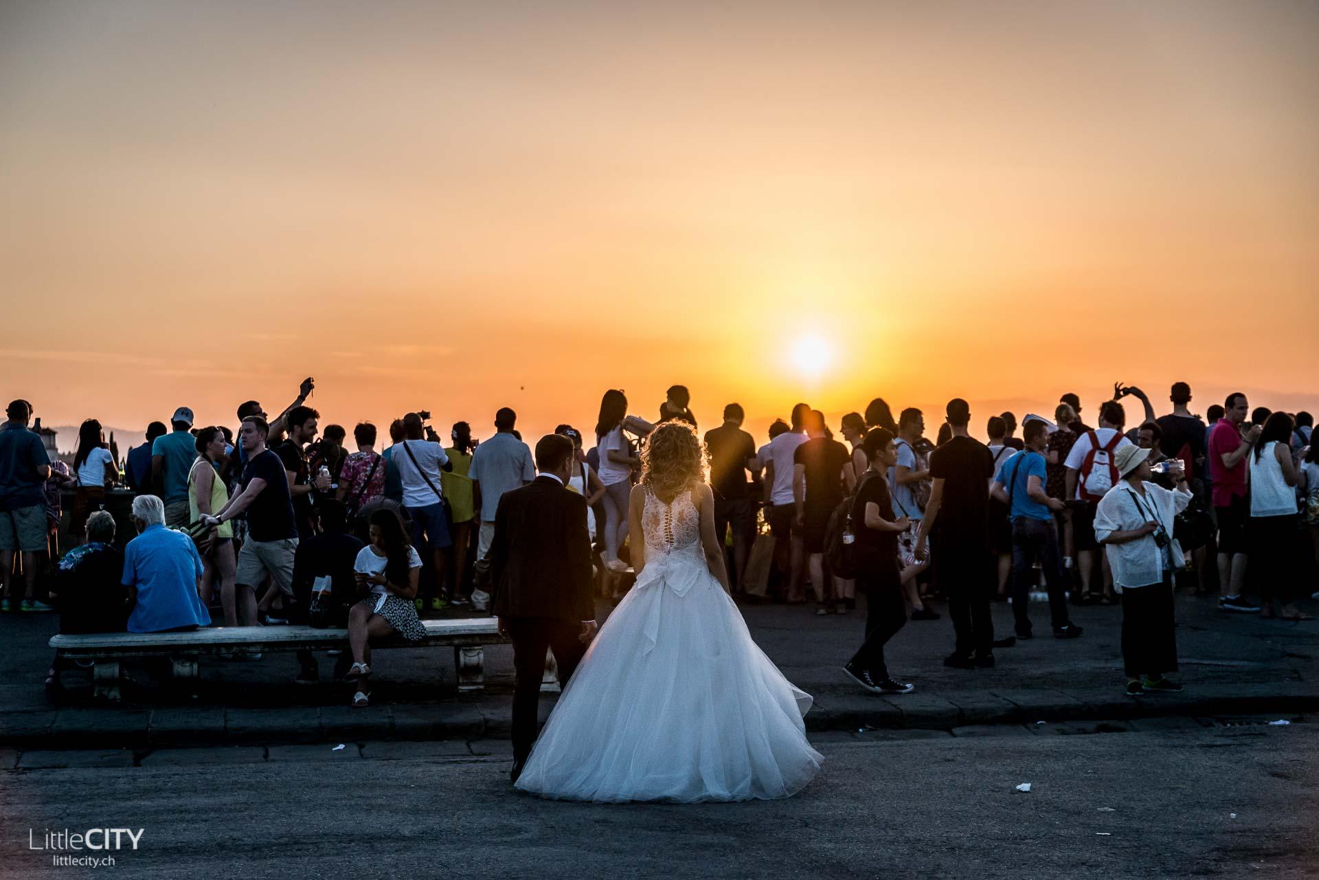 Florenz Piazzale Michelangelo Wedding Shoot Sunset