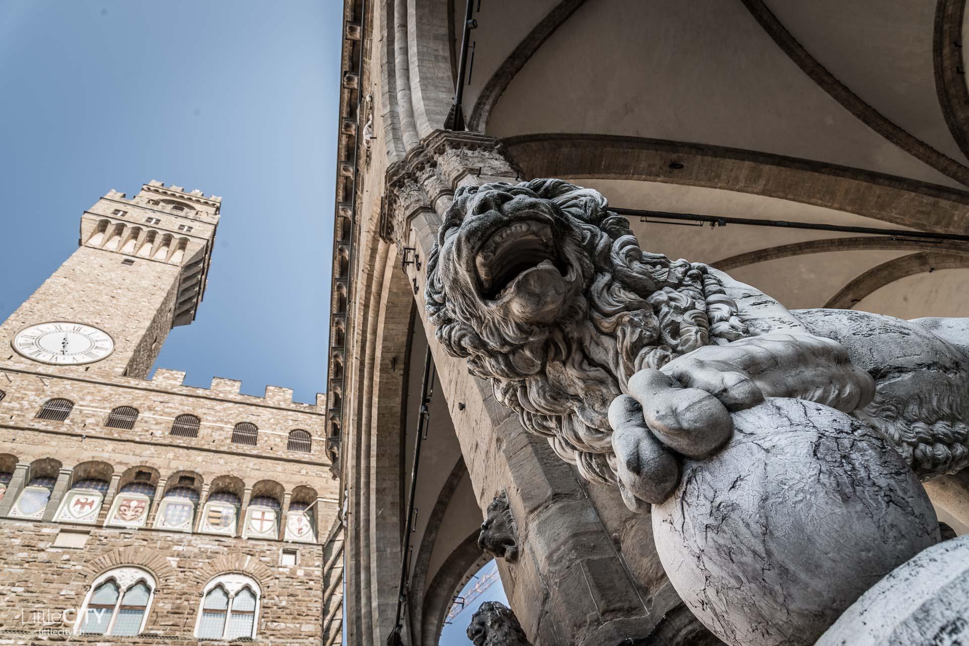 Florenz Reisetipp Piazzale della Signora Löwen Statue