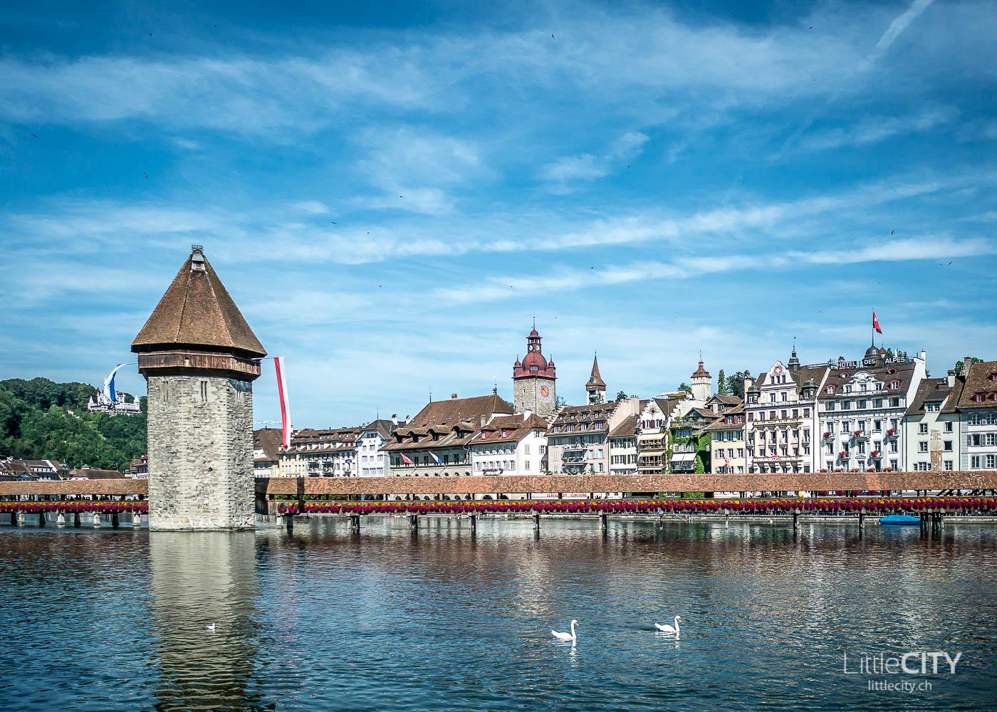 Luzern Kappelbrücke Sommer-1-4