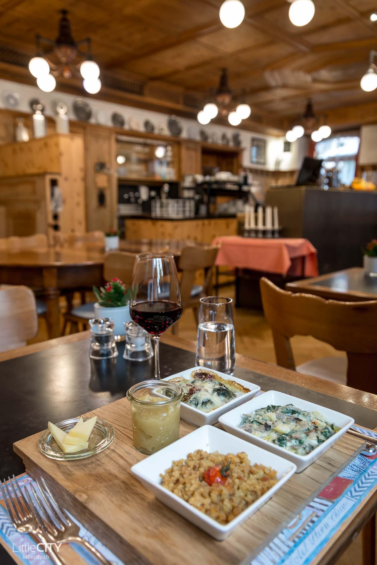 Chur Restaurant Tipp: Veltliner Weinstube Stern bündner Trilogie