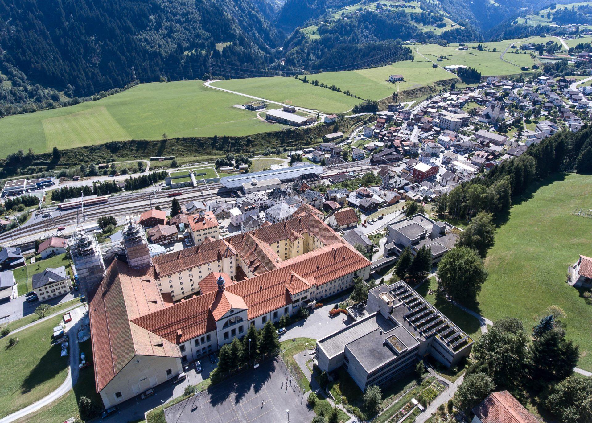 Kloster Disentis Luftaufnahme-5