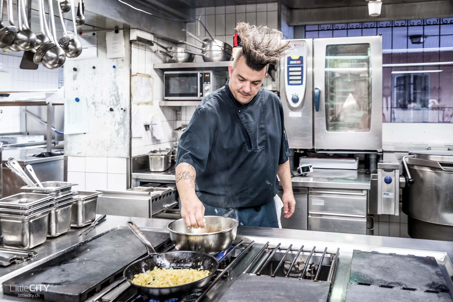 Koch Stefan Wagner aus Chur im Restaurant Stern