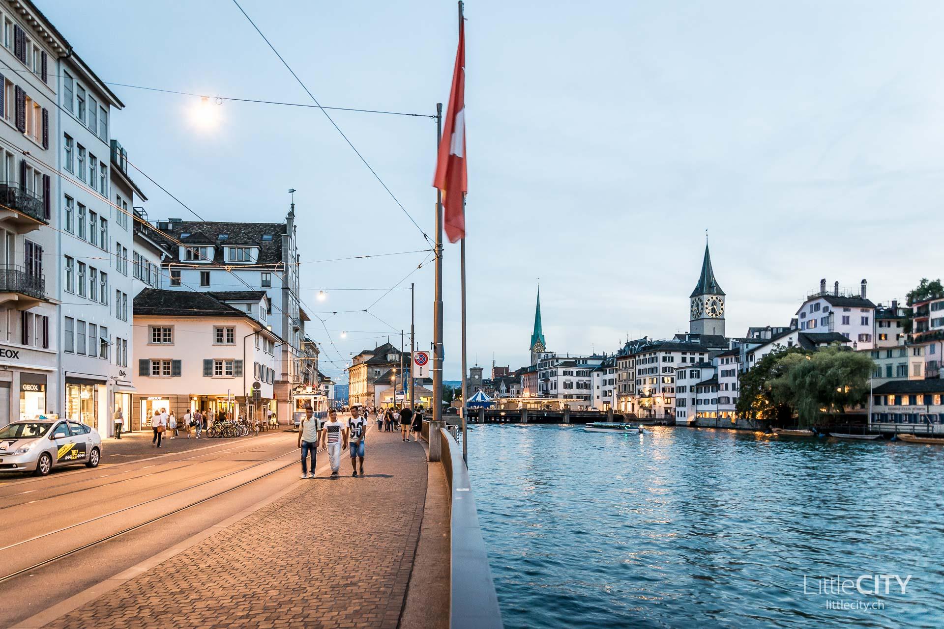 Zürich Sehenswürdigkeiten Limmatquai
