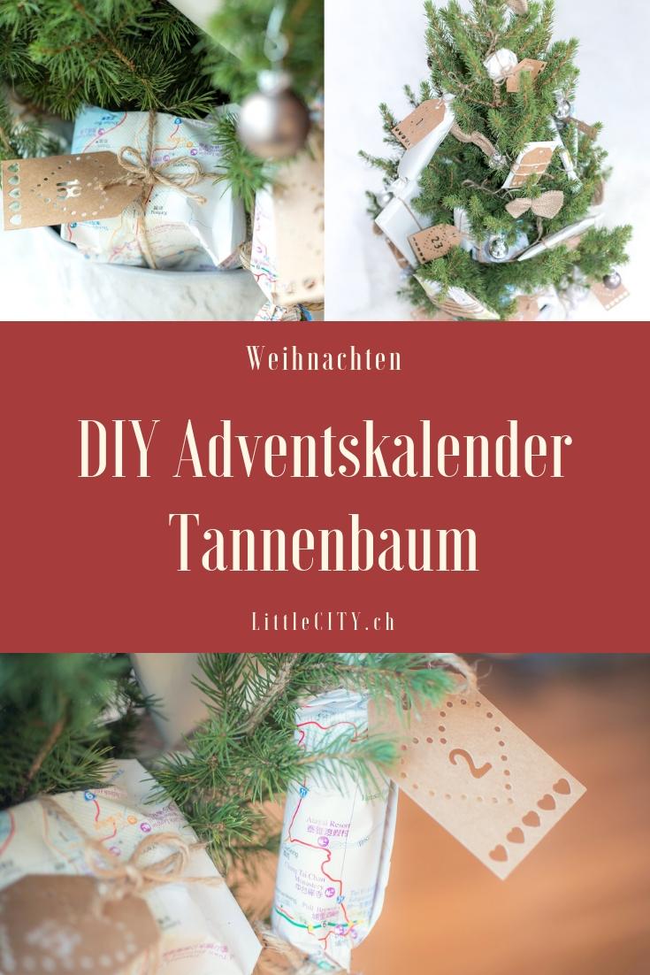 DIY Adventskalender Idee Tannenbaum