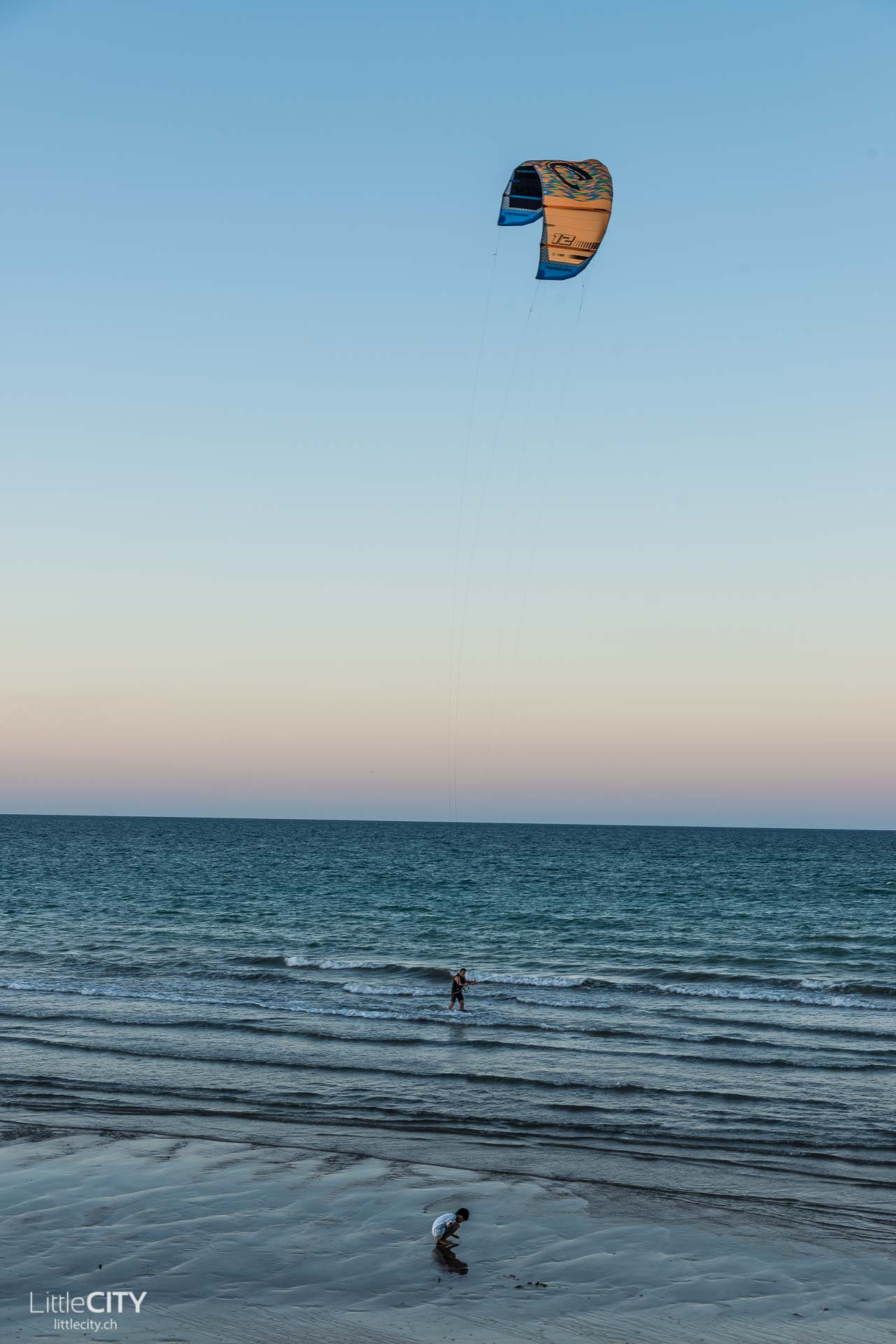 Oman Azaiba Beach Kite Surfen