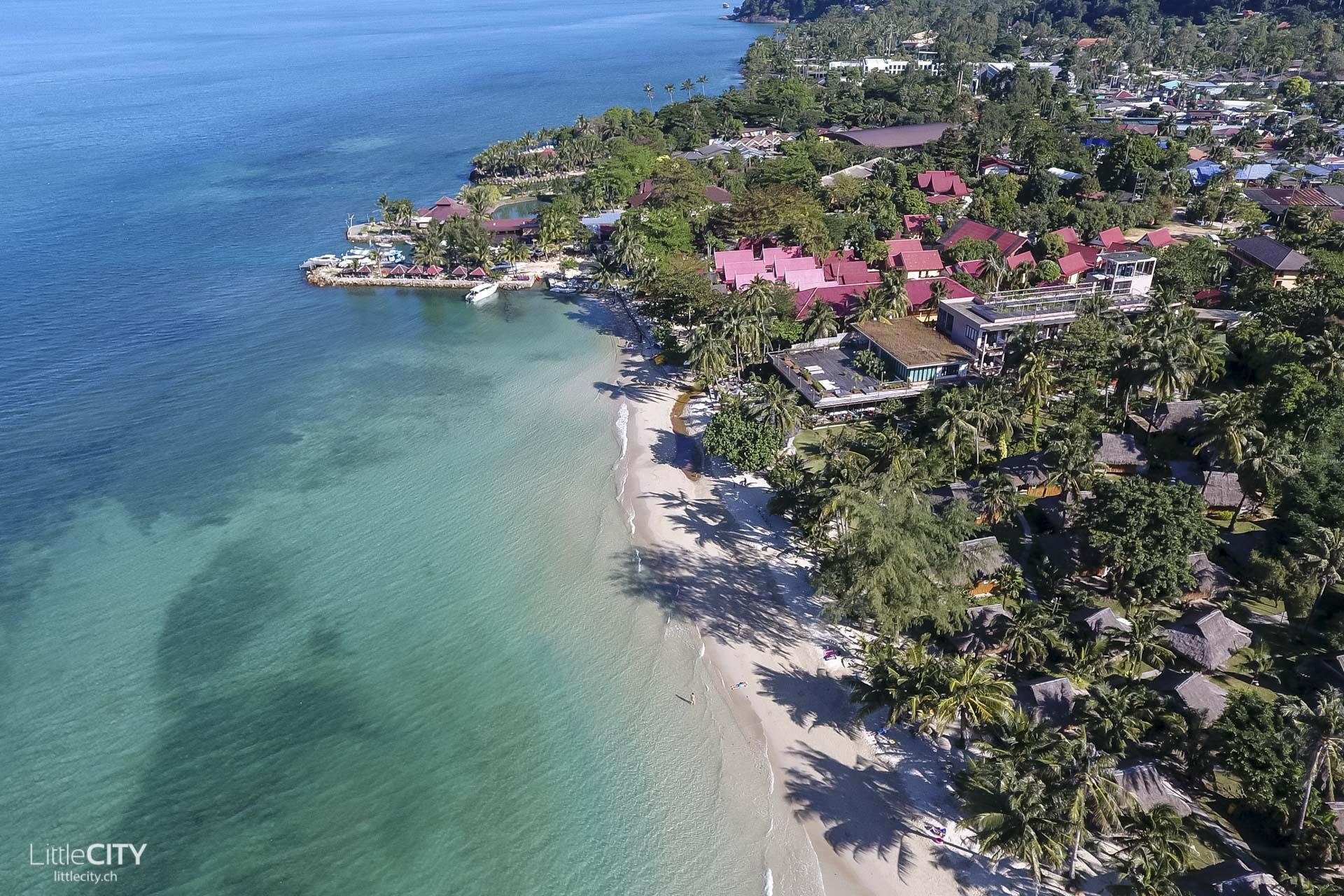 Kai Bao Beach Koh Chang Drohnen Aufnahme