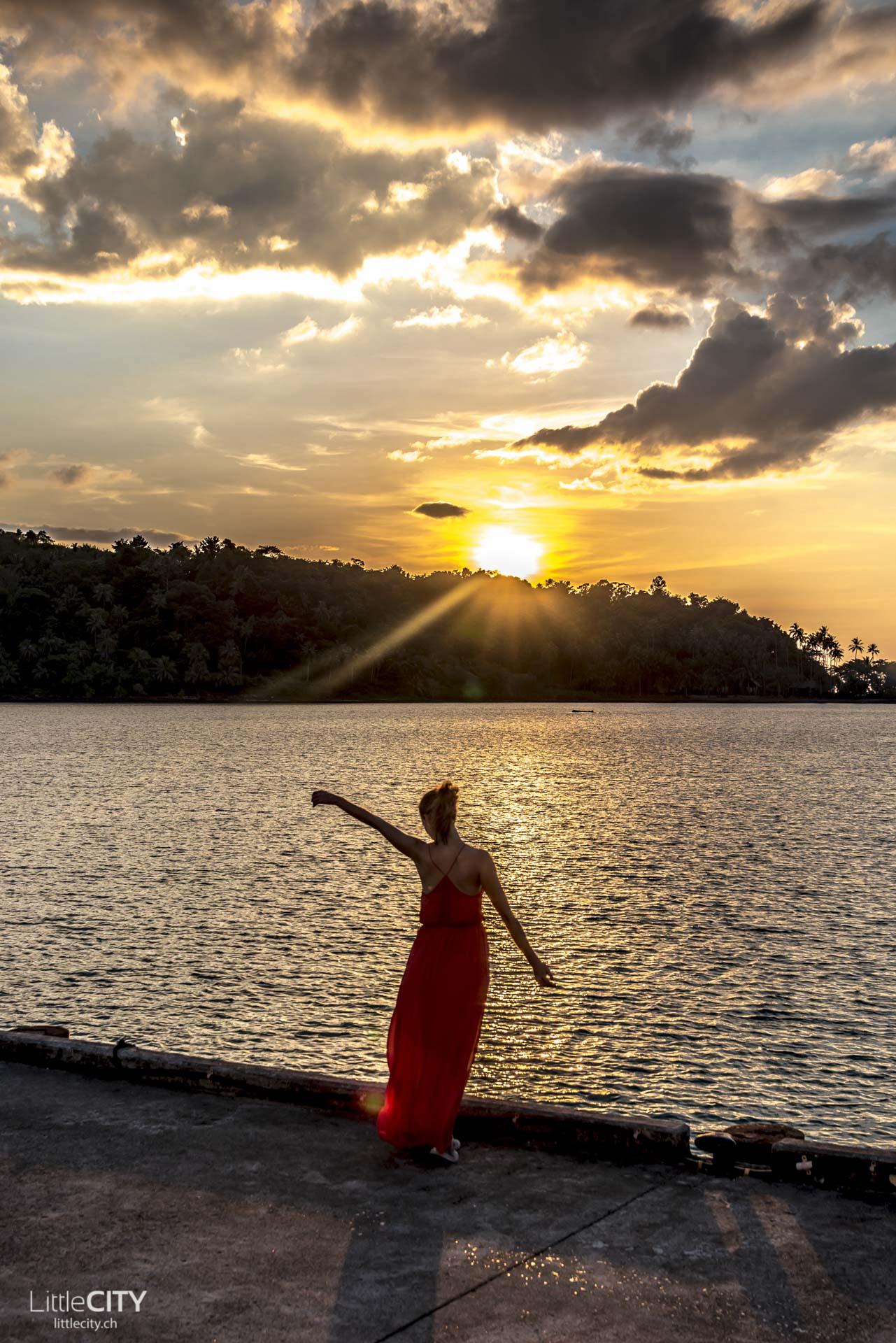 Koh Chang Bang Bao Sonnenunterhang Thailand