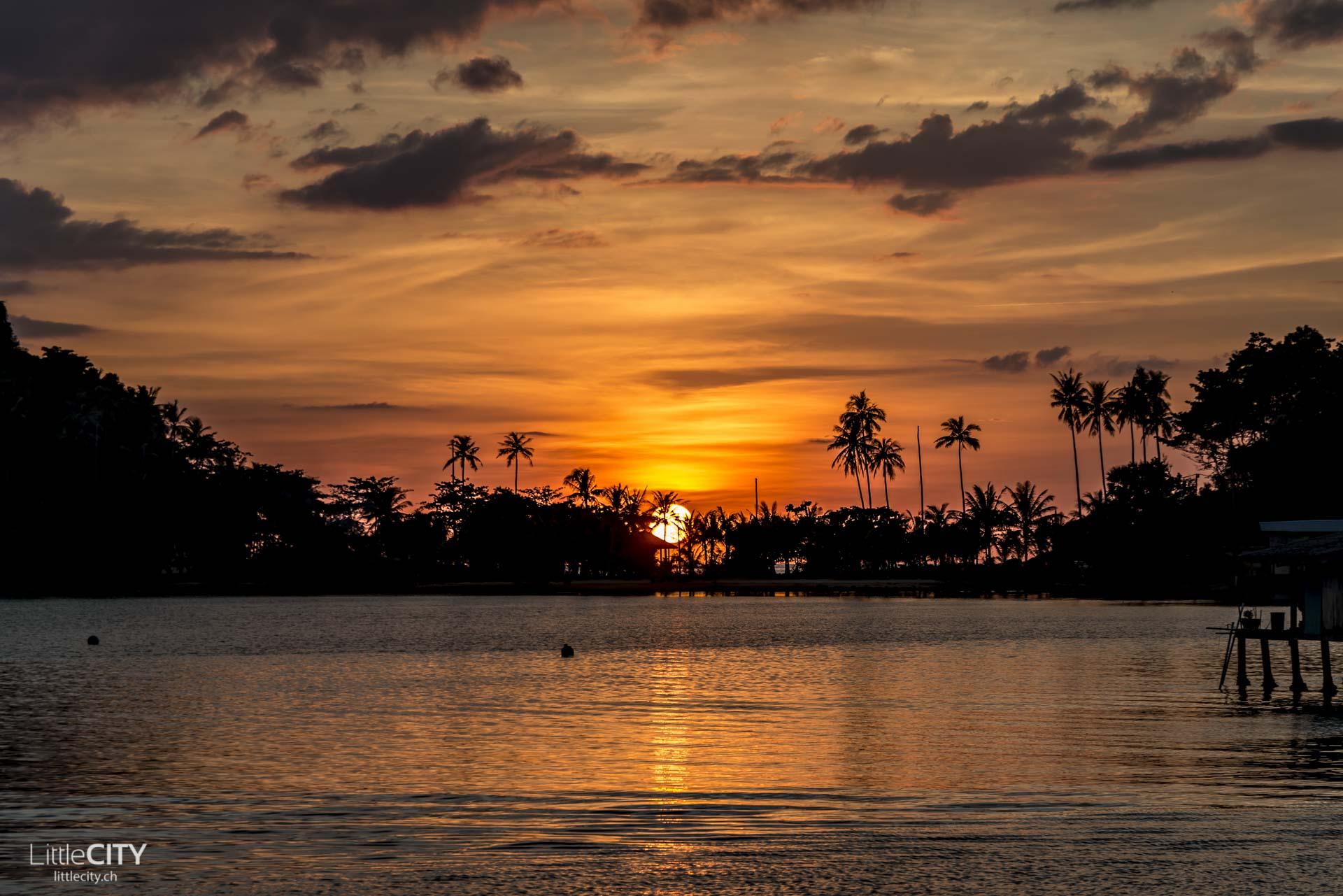 Bang Bao Sunset Koh Chang Thailand
