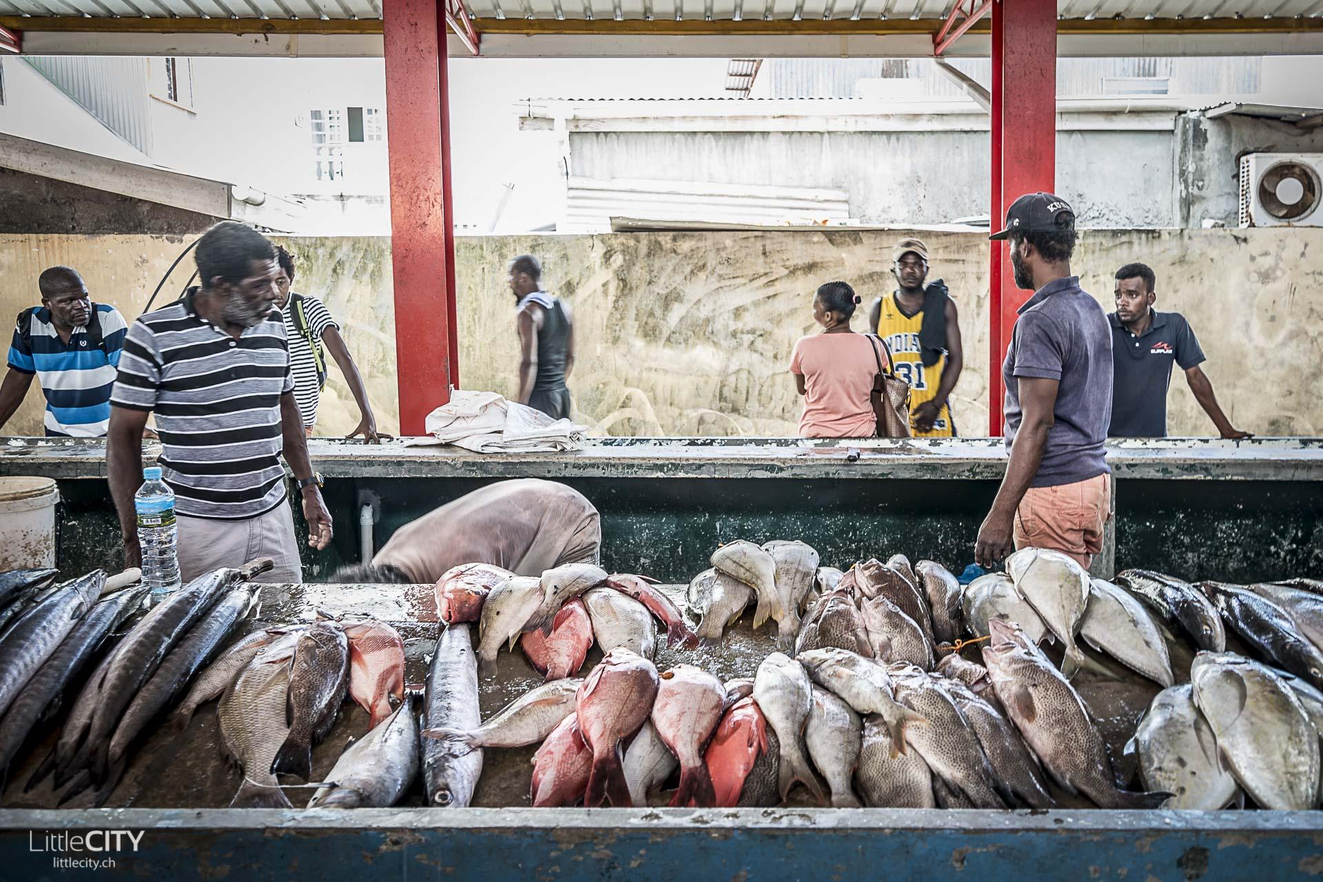 Sir Selwyn Selwyn-Clarke Market in Victoria in den Seychellen
