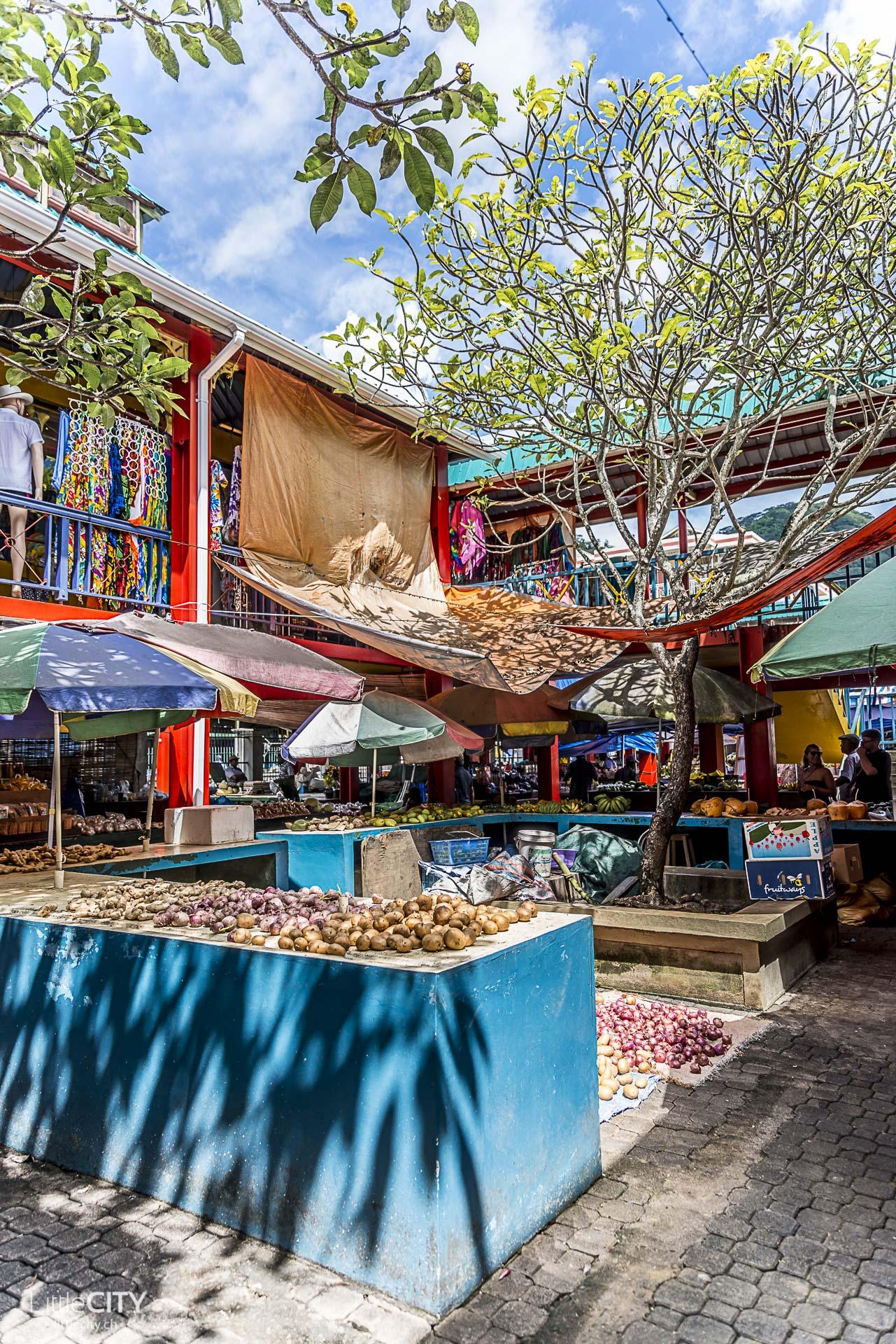 Seychellen Sir Selwyn Selwyn-Clarke Market in Victoria