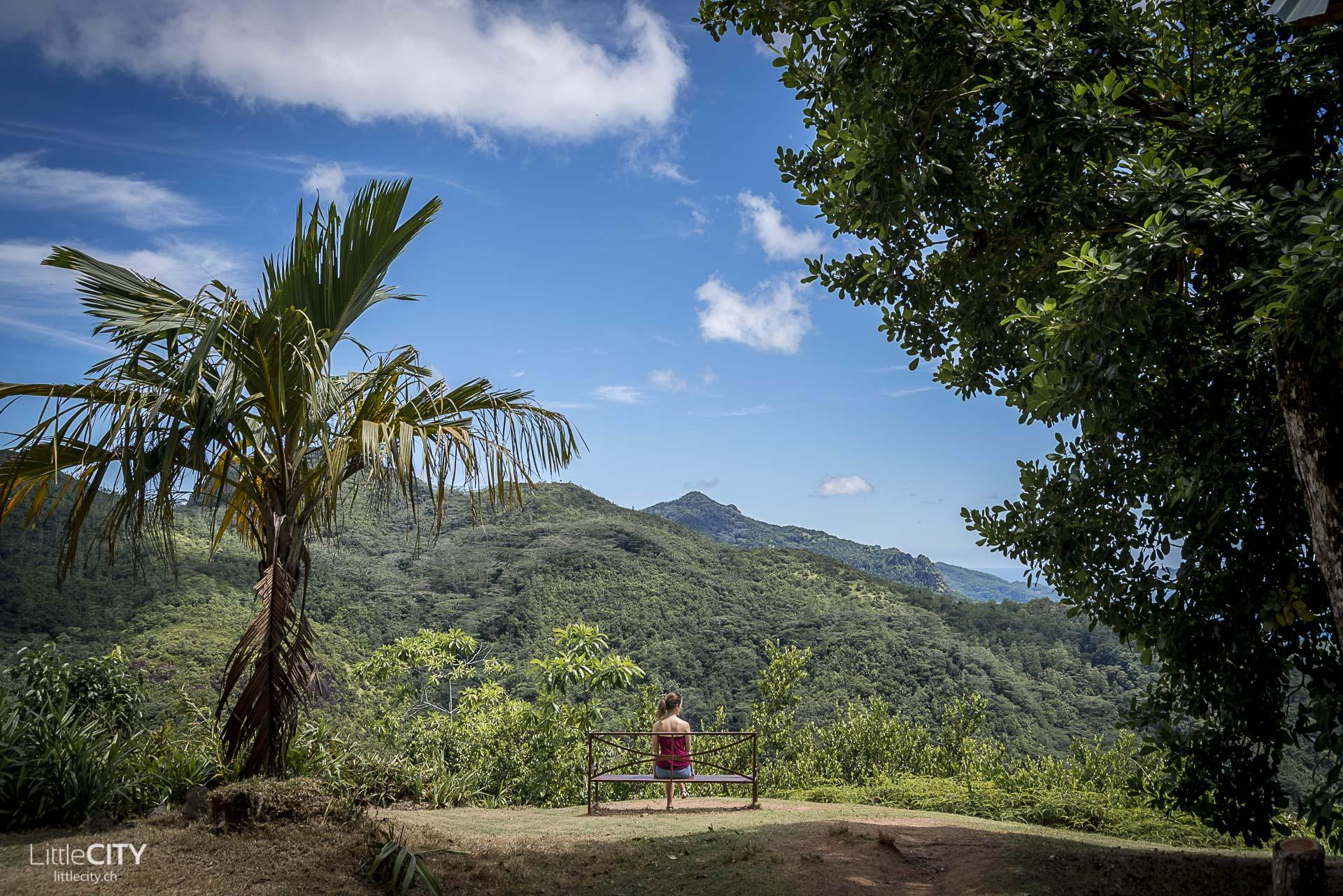 Mission Lodge Aussichtspunkt auf Mahe in den Seychellen