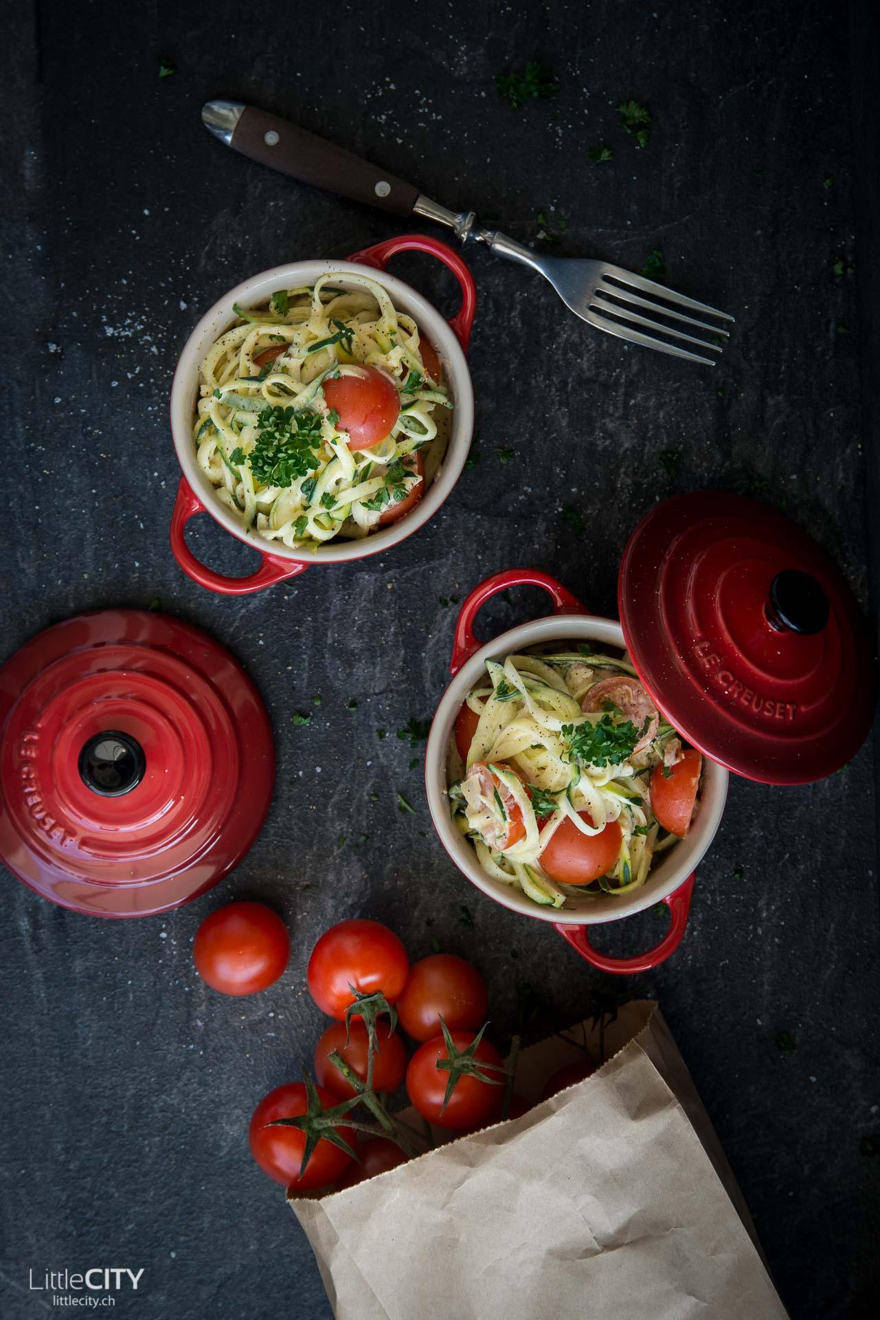 Zoodles Zucchini Nudeln Rezept
